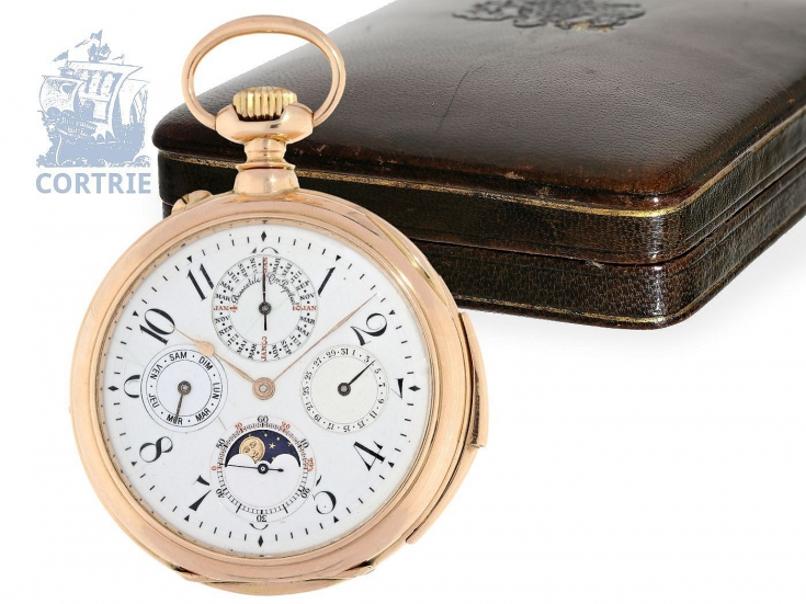 Engraving Savonnette Pocket Watch Spring Loaded Lid Gold Plated Quartz Incl Jewelry & Watches